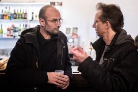 Alexander Nanau and Thomas Ernst, before the screening / Photo: Zoltán Adrián