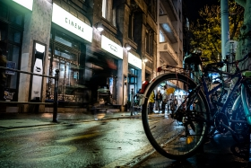 Toldi Cinema at night - our base for the festival week! / Photo: Balázs Ivándi-Szabó
