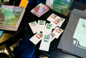 Verzió catalogues, tote bags and bio seeds / Photo: Balázs Ivándi-Szabó