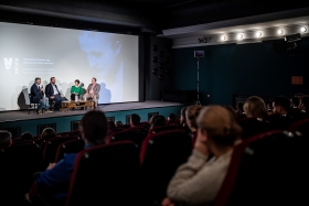 Discussion after the screening of Kabul, City in the Wind / Photo: Zoltán Adrián