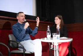 Q&A after the screening of How Big Is the Galaxy? with producer Max Tuula / Photo: Milán Rácmolnár