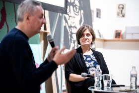 Anniversary of the Revolution screening and discussion - Nikolai Izvolov and Oksana Sarkisova / Photo: Zoltán Adrián