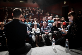 Q&A after the screening of Novaya with director Askold Kurov / Photo: Zoltán Adrián