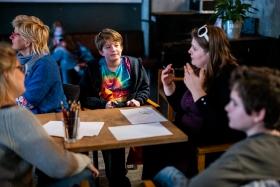 Workshop after the screening of Gods of Molenbeek / Photo: Balázs Ivándi-Szabó
