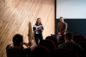 Q&A after the screening of my Unknown Soldier with director Anna Kryvenko / Photo: Balázs Ivándi-Szabó