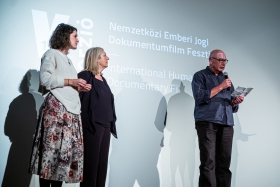 The International Jury announces the winner of the Best Student Film: Downstream / Photo: Balázs Ivándi-Szabó