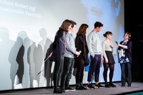 The Student Jury on stage / Photo: Balázs Ivándi-Szabó