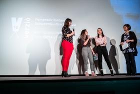 The Teen Jury on stage / Photo: Balázs Ivándi-Szabó