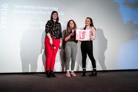 Announcing the Award of the Teen Jury: Matangi / Maya / M.I.A. / Photo: Balázs Ivándi-Szabó