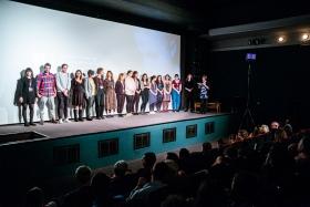 The Verzió 16 Team on stage / Photo: Balázs Ivándi-Szabó