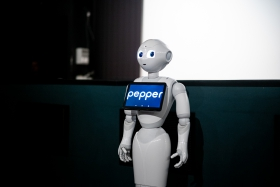 Surprise guest: Pepper the robot / Photo: Balázs Ivándi-Szabó