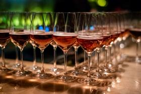 Celebrating with wine after the Award Ceremony / Photo: Balázs Ivándi-Szabó