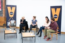 Dok-Szak-Ma: Új forgalmazási stratégiák (Christine Dollhofer, Johanna Huth, Bojana Maric, Józsa László) / Fotó: Rácmolnár Milán