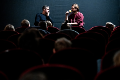 Q&A after the screening of Soyalism with co-director Enrico Parenti / Photo: Zoltán Adrián