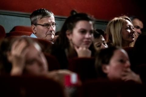 Q&A after the screening of Novaya with director Askold Kurov / Photo: Zoltán Adrián