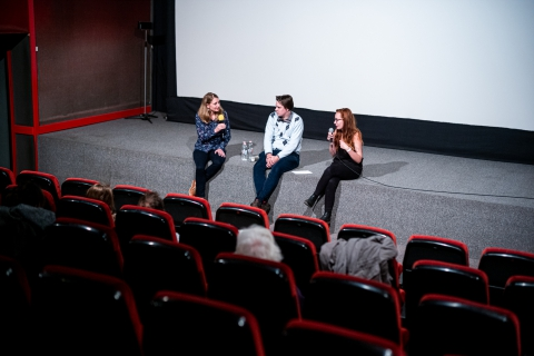 Q&A after the screening of Buddha in Africa with director Nicole Shafer / Photo: Balázs Ivándi-Szabó